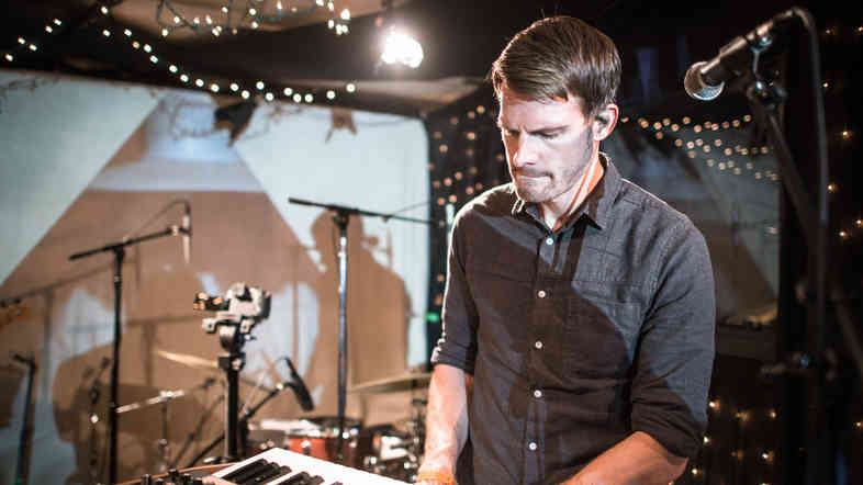 Scott Hansen, a.k.a. Tycho, performs with his band at KEXP in Seattle.