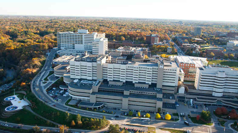An official at the University of Michigan Health System in Ann Arbor says its mix of patients helps explain the infection rates.