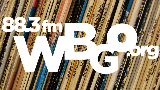 WBGO logo with record covers
