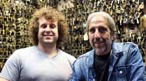When Phil Mortillaro dropped out of school in eighth grade, he started work as a locksmith. Now he and his son, Philip Jr., run their own shop in Manhattan.