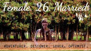 On Instagram, @ncmpls describes herself as #female #26 #married #adventurer #designer #lover #optimist