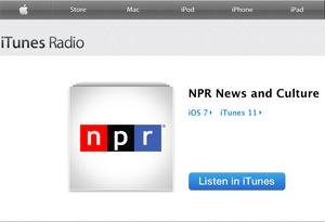 iTunes Radio screen shot