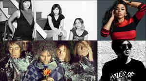 Clockwise from upper left: Sleater-Kinney, Elle Varner, GRMLN, The Flaming Lips