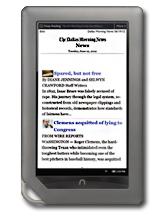 Dallas Morning News Nook App