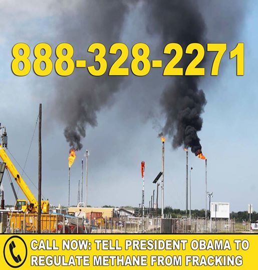 Photo: It's time to control methane emissions and hazardous air pollution from fracking.   Oil and gas drilling isn't clean, and harms the climate and public health.   Tell the President to put strong rules in place to limit methane from oil and gas drilling!