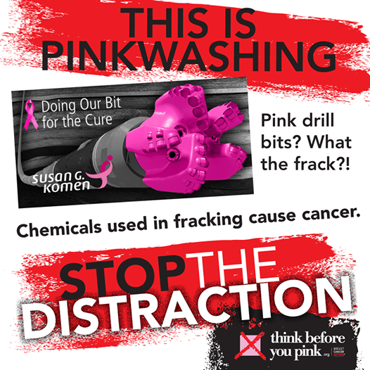 Photo: Pink drill bits for the cure?! Over 700 chemicals are used in drilling and fracking for oil and gas. At least 25% of these chemicals increase our risk of cancer. Shame on Susan G. Komen & Baker Hughes, Inc. http://bit.ly/1sclNDI