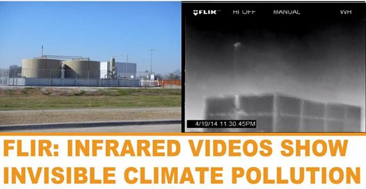 Photo: Infrared videos show air pollution from fracking in Denton, Texas still hasn't been addressed by regulators.  Despite industry promises to operate responsibly, videos show chronic, ongoing releases of volatile organic compounds (VOCs) within city limits: http://bit.ly/1vHZZkF cc: Frack Free Denton