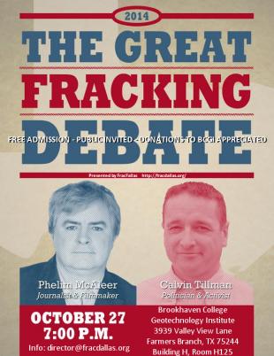 Photo: Tonight: Former DISH, TX Mayor Calvin Tillman debates pro-fracking documentarian Phelim McAleer.  Watch the Livestream starting at 7pm CST/8pm EST here: http:bit.ly/1DThm4v