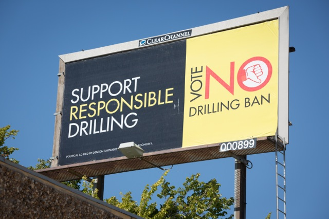 Denton Taxpayers for a Strong Economy billboard