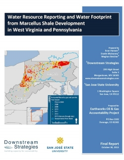 Water Resource Reporting and Water Footprint from Marcellus Shale Development in West Virginia and