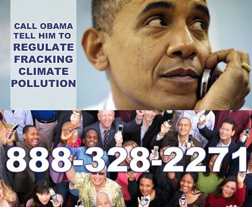 Photo: It's time to pick up the phone.   Call President Obama now and tell him to directly regulate methane from fracking! 888-328-2271  Please let us know how your call went in the comments.