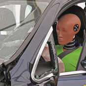The new crash test dummy — not this one — will weigh 271 lbs and have a body mass index of 35. Automakers use the dummies to prove their vehicles are roadworthy.