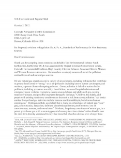Proposed revisions to Regulation No. 6, Pt. A., Standards of Performance for New Stationary Sources