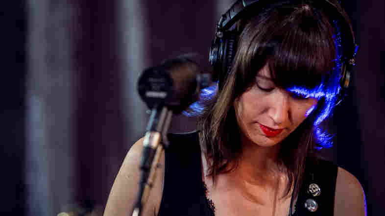 Karen O performs live on KCRW's Morning Becomes Eclectic.