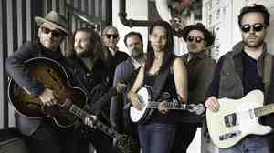 Elvis Costello, Rhiannon Giddens, Taylor Goldsmith, Jim James and Marcus Mumford are The New Basement Tapes.