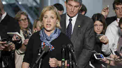 Sen. Mary Landrieu, D-La., chair of the Senate Energy Committee, spoke Wednesday about getting congressional approval for the Canada-to-Texas Keystone XL pipeline. With her with is Sen. Joe Manchin, D-W. Va., a member of the committee.