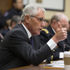 Defense Secretary Chuck Hagel testifies on Capitol Hill in Washington on Thursday.