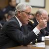 Defense Secretary Chuck Hagel testifies on Capitol Hill in Washington on Thursday.