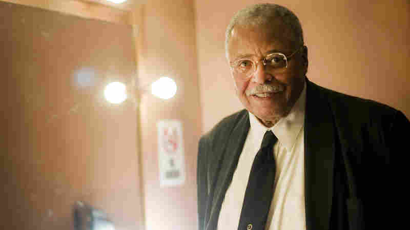 """James Earl Jones was born in Mississippi and grew up in Michigan. He was adopted by his grandparents and eventually developed a stutter. """"I'm still a stutterer,"""" he says. """"I just work with it."""""""