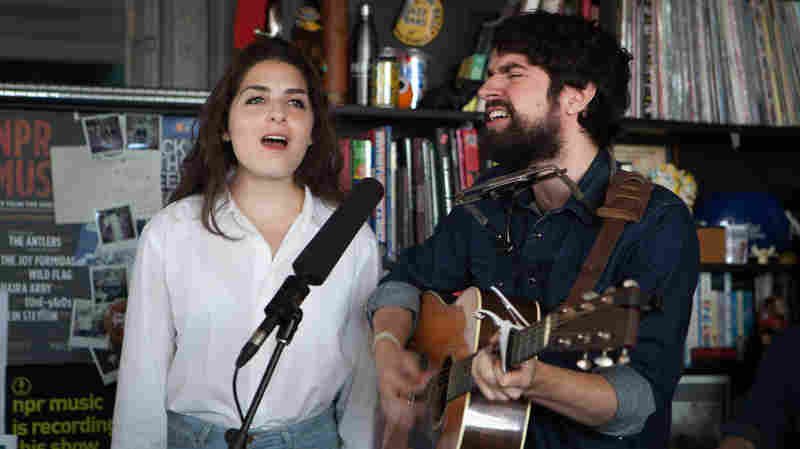 Anthony D'Amato and Katy Pinke perform a Tiny Desk Concert September 30, 2014.