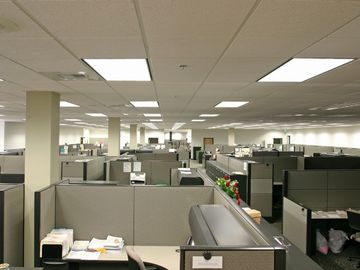 Many workers spend their days in cubicles.