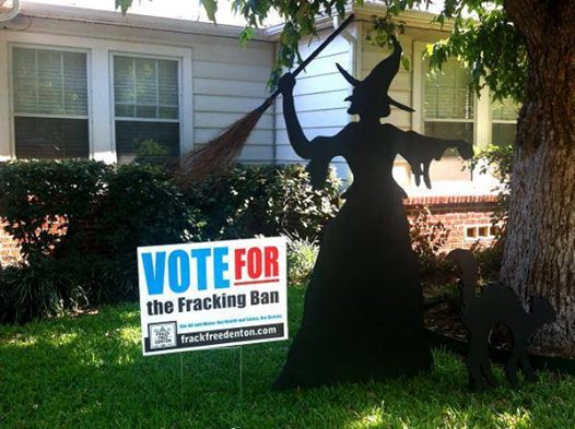 Photo: Happy Halloween!  Why not celebrate by *tricking* the fracking industry and giving Frack Free Denton a *treat*!  Election day is just four days away, give now to support their fracking ban! http://earthworksaction.org/denton