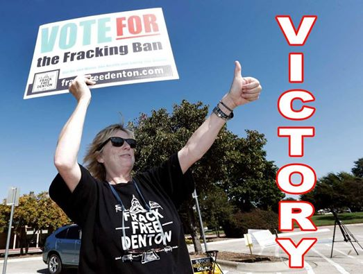 Photo: HUGE VICTORY: Frack Free Denton passes first fracking ban in a Texas city!  Please join us is sharing this great news! When communities come together to keep unwanted development away, anything is possible.  Thank you to everyone who has supported this great effort!
