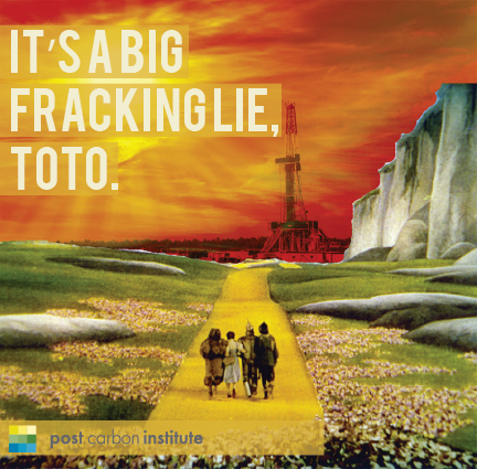 """Photo: """"It's such an uncomfortable feeling to know one is a fool."""" – Scarecrow  We're told by the Dept. of Energy that the """"shale revolution"""" will fundamentally change the U.S. energy picture for decades to come—leading to energy independence, a rebirth of U.S. manufacturing, and a surplus supply of both oil and natural gas that can be exported to allies around the world.   ARE THEY TAKING US FOR FOOLS? http://bit.ly/drillingdeeper"""