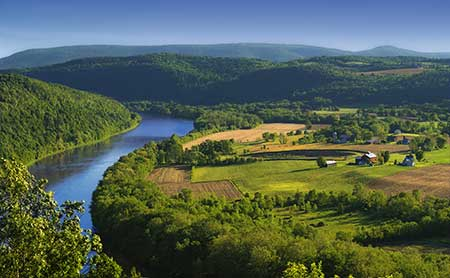Bradford County, PA, where in 2011 a large spill occurred at a Chesapeake Energy drilling operation. Photo: Nicolas