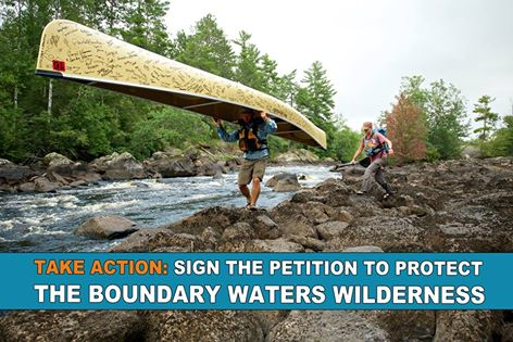 The Boundary Waters Canoe Area Wilderness is threatened by risky sulfide mining -- and two adventurers are taking action.  Dave and Amy Freeman are paddling their canoe to DC to deliver a petition to protect this beautiful wilderness area.  ACT NOW: sign their petition to protect the Boundary Waters! http://bit.ly/1ESzES0