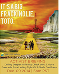 Register today for this exciting briefing on the LIE of the fracking boom! http://bit.ly/15P8RM7