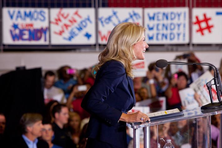 Wendy Davis speaking