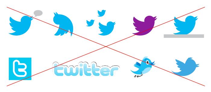 Bad Twitter logos