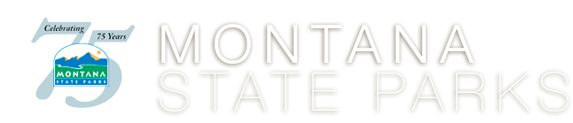 image of Montana State Parks 75th Anniversary logo and msp heading