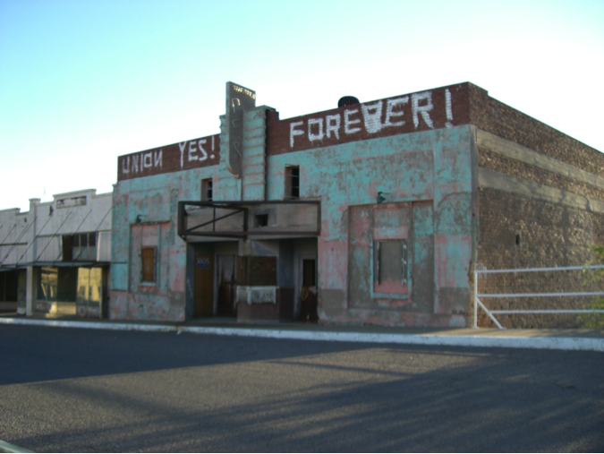 What's left of Main Street in Hayden, AZ -- decades after the last mining boom.