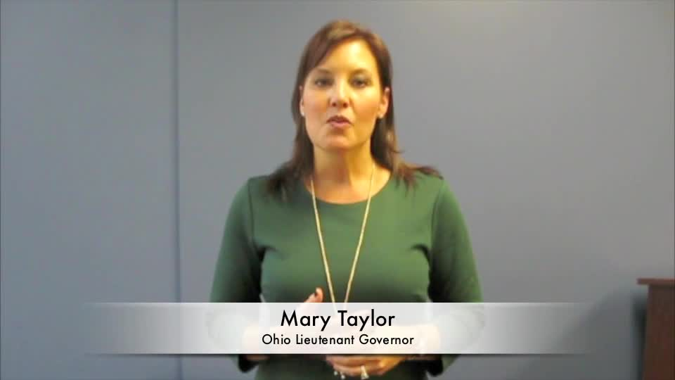 Ohio Lt. Gov. Mary Taylor talks making Ohio more business friendly (Video)