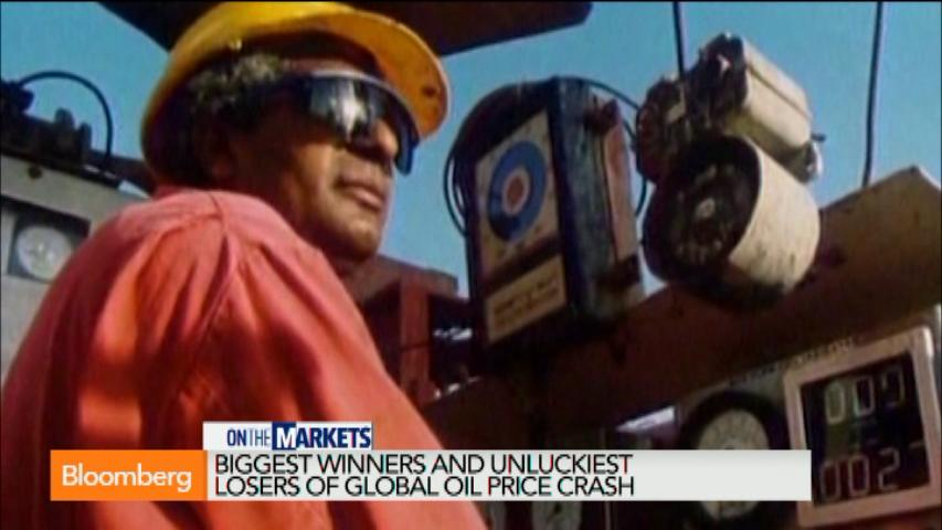 The biggest winners and losers from oil's big drop: Bloomberg (Video)