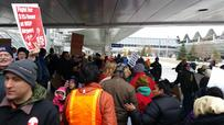 Protesters block traffic at MSP Airport