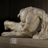 An undated handout image released by the British Museum of a headless sculpture of the river god Ilissos. The British Museum has put the sculpture, one of the Elgin Marbles, on loan to the Hermitage Museum in Russia, the first time one of the Parthenon sculptures has been lent.