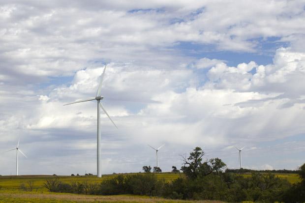 A NextEra Renewable Energy Resources wind farm site near Elk City, Okla.