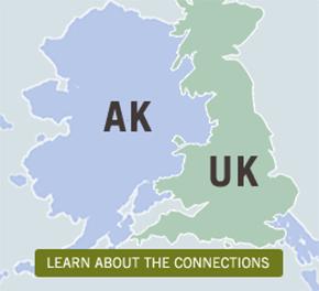 AK to UK map