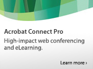 High-impact web conferencing and eLearning. Learn more >