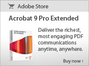 Acrobat 9 Pro Extended - Deliver the richest, most engaging PDF communications anytime, anywhere. Buy now >