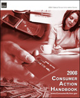 2008 Consumer Action Handbook cover graphic