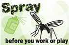 Spray before you work or play