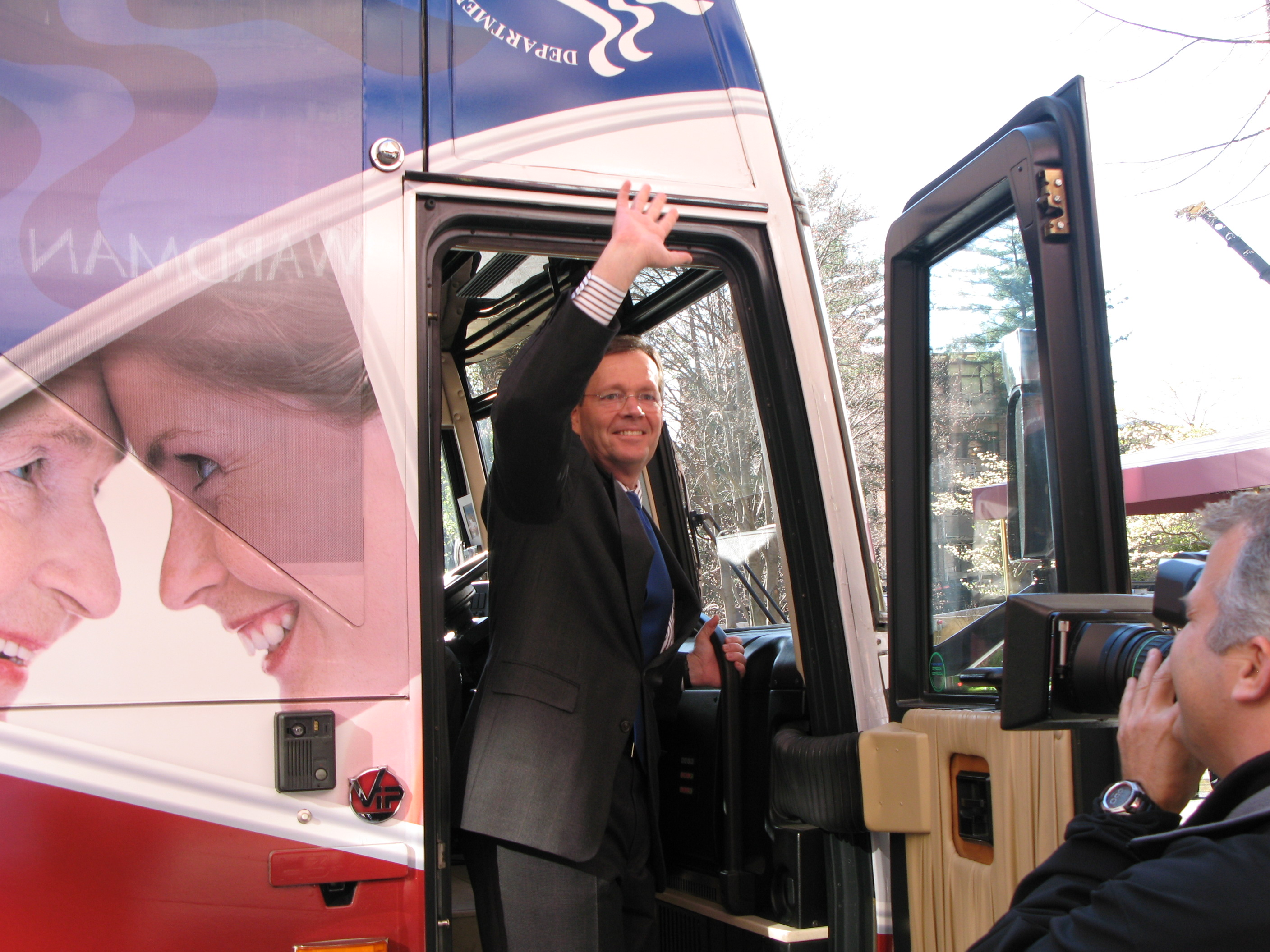 "Photo - The Department's ""A HealthierUS Starts Here"" bus tour launch"