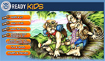 Screenshot of the Ready Kids website.