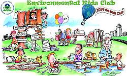 A screenshot of the Environmental Kids Club web site