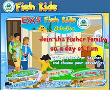 Screenshot of EPA's Fish Kids website.