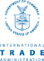 Department of Commerce, International Trade Administration (ITA) logo with a hyperlink to the ITA website